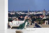 Fotobehang vinyl - Uitzicht over de Oude stad van Rhodos breedte 390 cm x hoogte 260 cm - Foto print op behang (in 7 formaten beschikbaar)