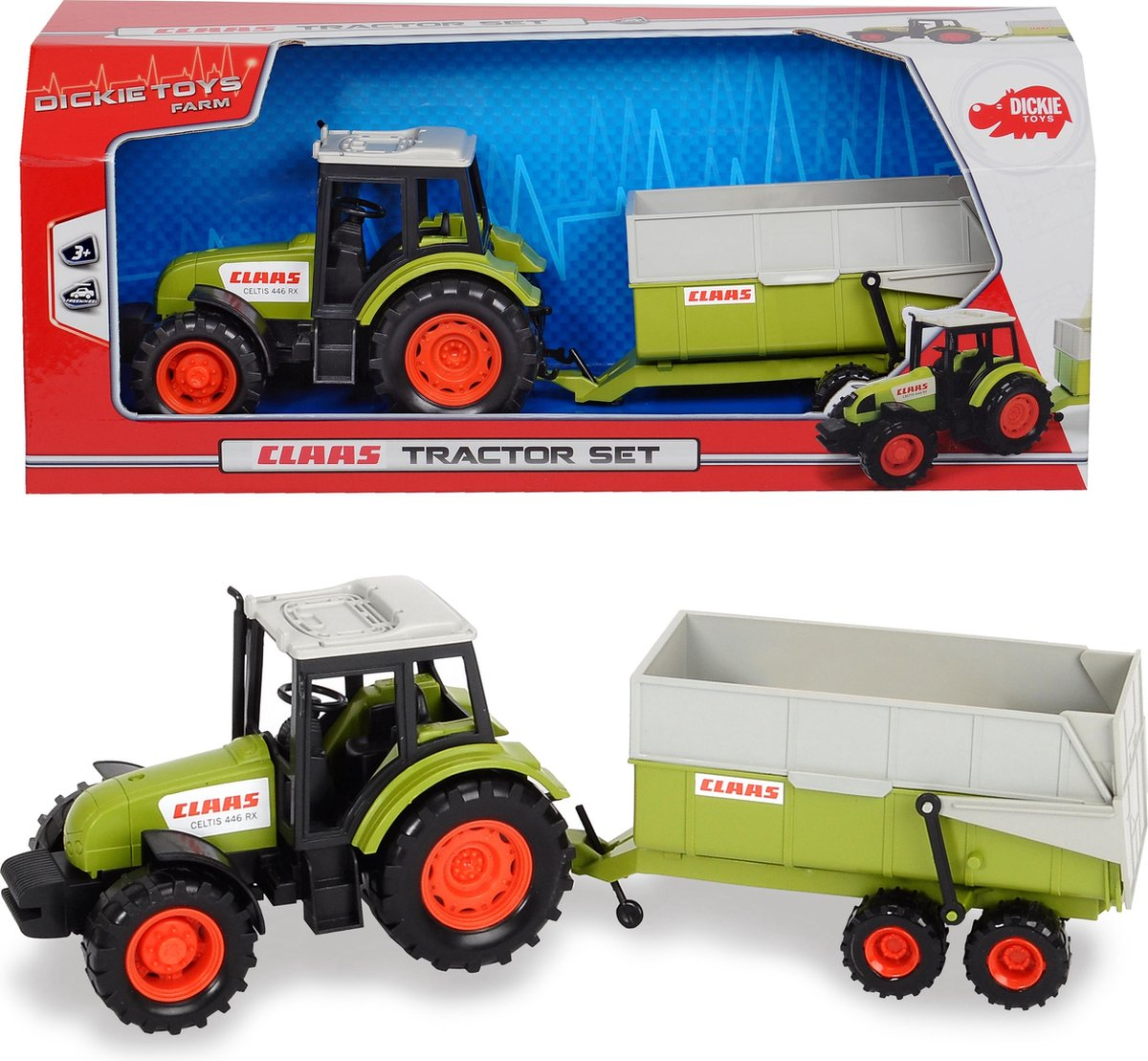 Claas Tractor and Trailer