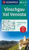 Kompass WK670 Vinschgau, Val Venosta
