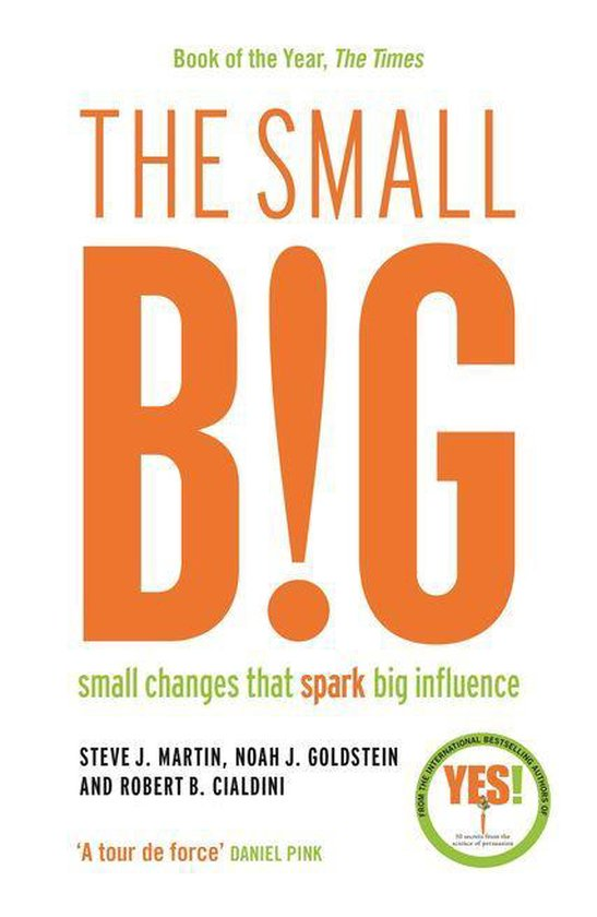 Boek cover The small BIG van Steve Martin (Onbekend)