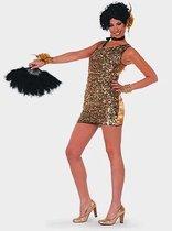 Gouden glitter jurkje voor dames 40 (l)