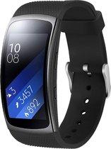 YONO Siliconen Bandje - Samsung Gear Fit 2 – Zwart