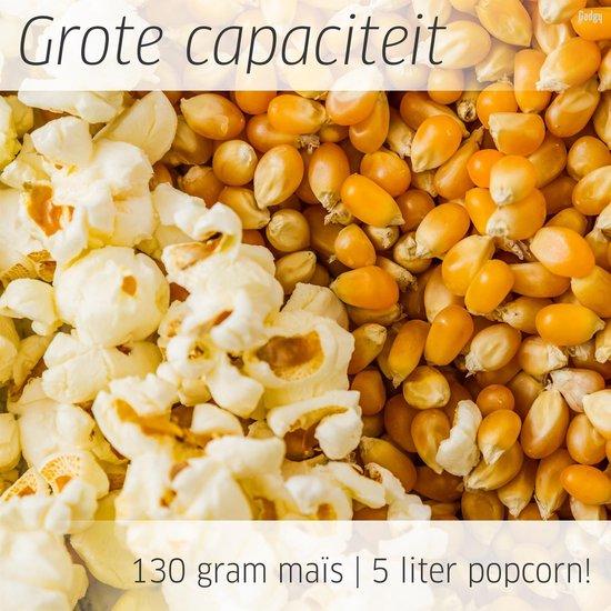 Gadgy Popcorn Machine Rond met anti-aanbaklaag - Popcorn Maker Stil en Snel - 5 liter - Rood