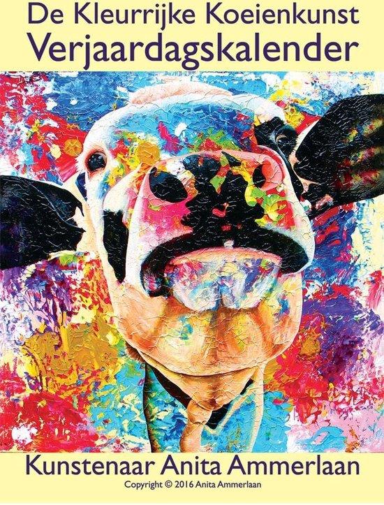 A4 Kleurrijke Koeien Verjaardagskalender