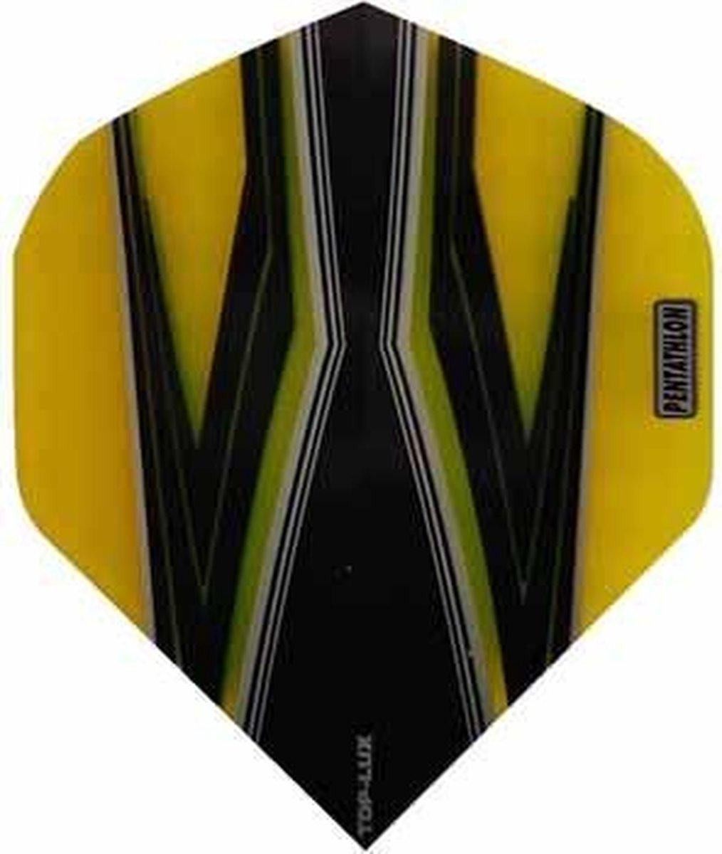 ABC Darts Flights Pentathlon - Spitfire Z geel - 10 sets