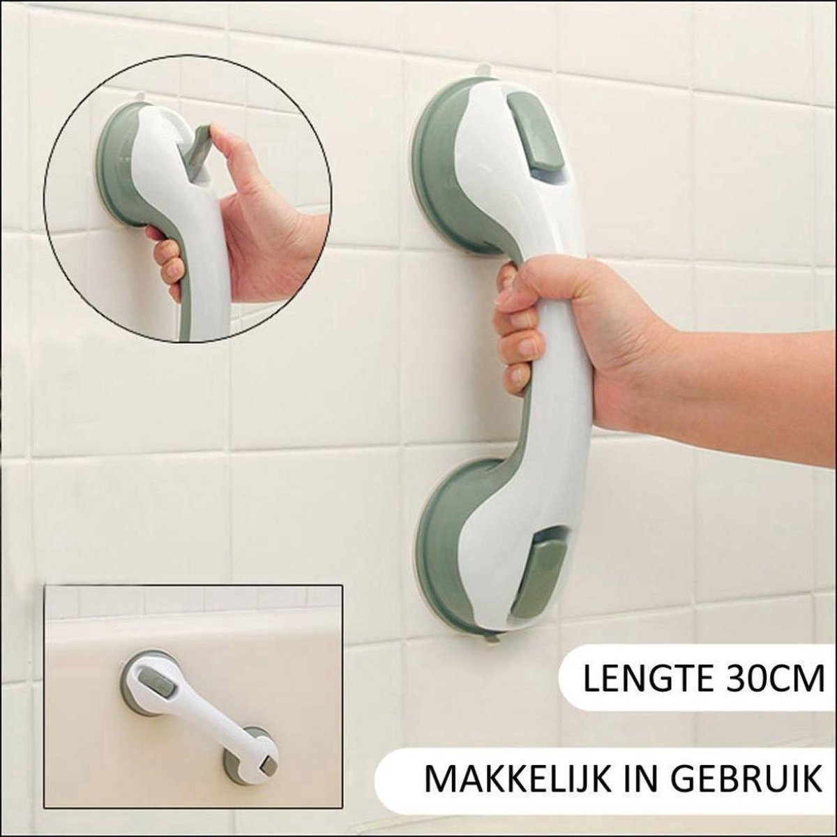 Zuignap Handgreep Badkamer - Douche Handgreep Met Zuignap - Veiligheidsgreep - Helping Hand Handvat - Easy Grip