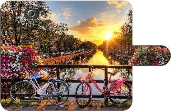 Sony Xperia E4 Uniek Hoesje met Opbergvakjes Amsterdamse Grachten