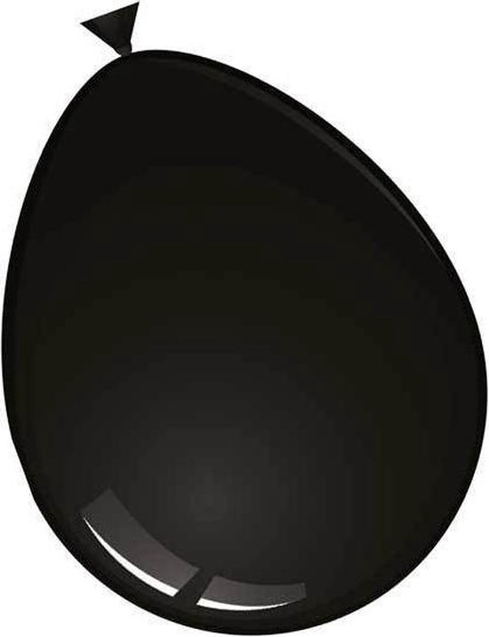 ballon 24 inch 60 cm zwart 10 stuks