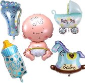Babyshower Versiering Pakket - Baby Shower Balonnen Set - Geboorte Cadeau Jongen
