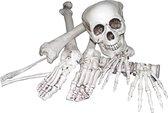AROMA - Zak met botten Halloween versiering - Decoratie > Decoratie beeldjes - Grijs   Wit