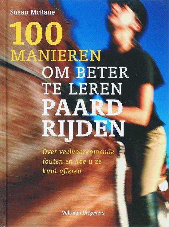 Cover van het boek '100 manieren om beter te leren paardrijden' van Susan MacBane
