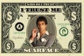 Scarface Al Pacino dollarbiljet poster 61x91.5cm.