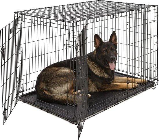 Hondenbench Max - Zwart - XL - 124 x 76 x 83 cm