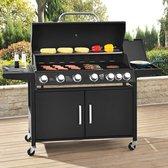 BBQ Gasgrill - Barbecue grill California - 6 Pits met zijbrander
