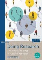 Boek cover Doing Research van Nel Verhoeven (Paperback)