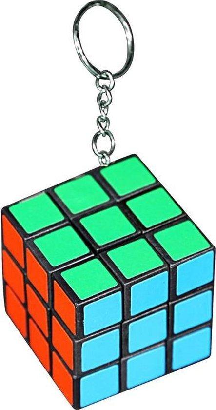 Afbeelding van het spel Kleurenkubus puzzeltje aan sleutelhanger 3 cm