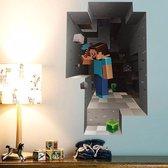 3D Minecraft Game Muursticker / Poster Jongens Slaapkamer