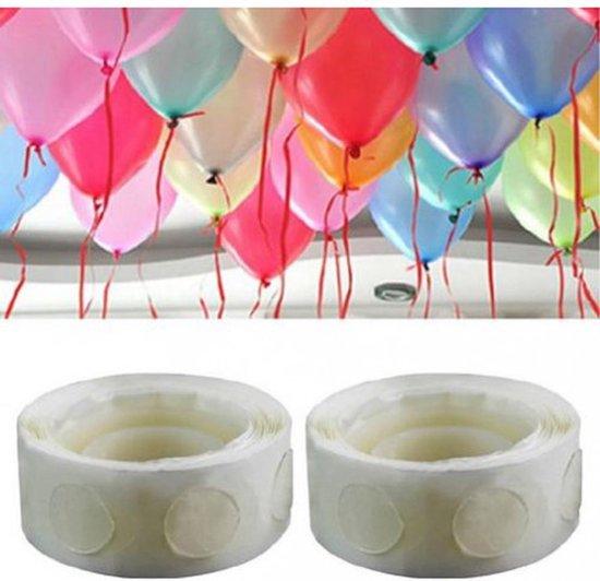 Set 2 rolletjes ballonnen tape, ballonnen zonder helium laten hangen