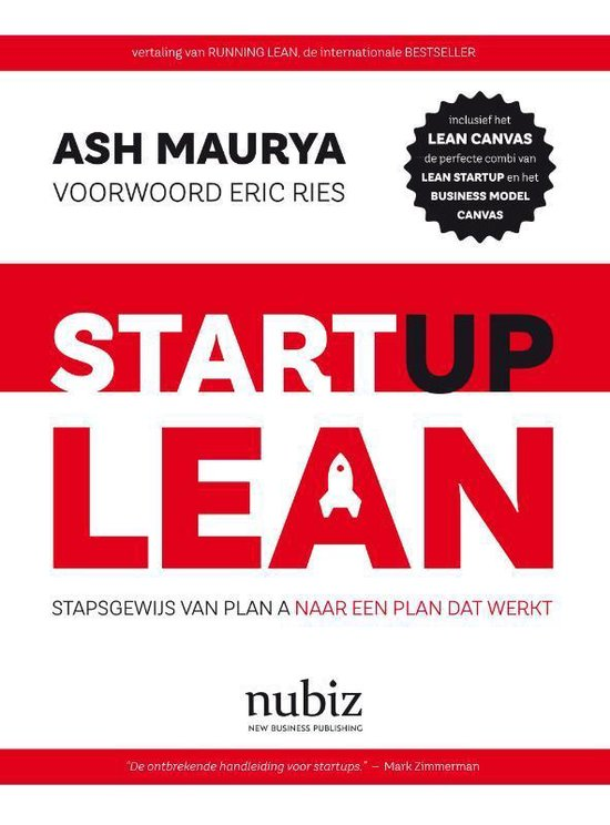 Boek cover Startup Lean van Ash Maurya (Paperback)