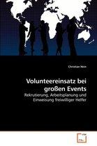 Volunteereinsatz bei grossen Events