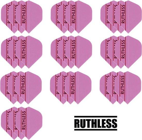 Dragon darts - 10 Sets (30 stuks) - Ruthless - sterke flights - Solid Roze - darts flights