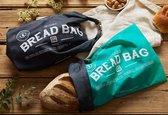 ONYA - Duurzame Broodzak (AQUA)   Bread Bag   Herbruikbaar   Broodtas   Brood tas   Broodmand