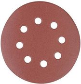 Silverline 125 mm geperforeerde klittenband schuurschijven, 10 Stuks 125 mm 40 korrelmaat