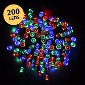 Partyverlichting - kerstverlichting - led - met zonnepaneel - multicolor - 200 leds - DisQounts