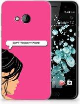 HTC U Play TPU-siliconen Hoesje Woman DTMP