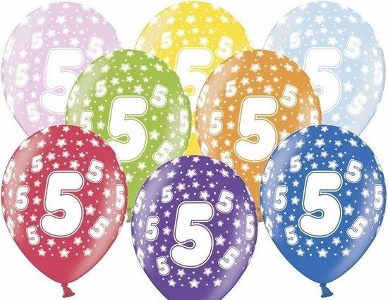 12x Ballonnen 5 jaar leeftijd feestartikelen - 5e verjaardag versiering