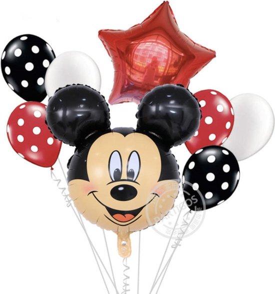 Disney Mickey Mouse Ballonnenset - Folieballonnen - Heliumballonnen - 8 Stuks - Feestdecoratie - Verjaardag - Feestje -Kinder verjaardag