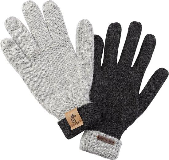 Woolie Alpaca Unisex Handschoenen Lichtgrijs Maat One size