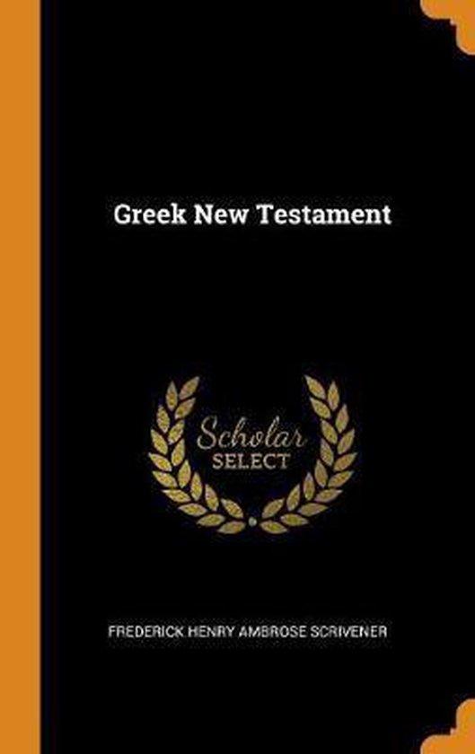 Boek cover Greek New Testament van Frederick Henry Ambrose Scrivene (Hardcover)