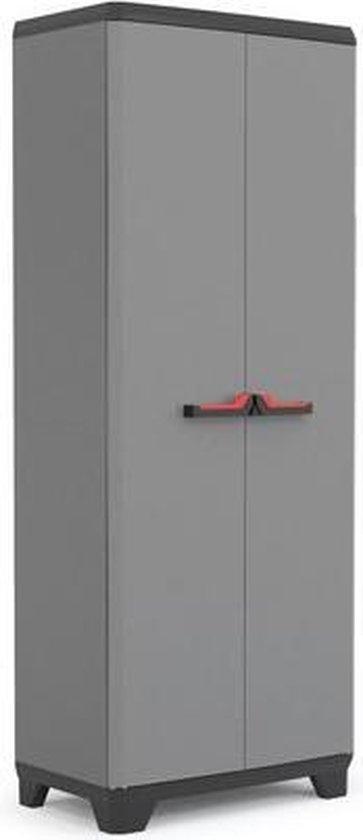 Kis Stilo Opbergkast hoog - 68x173x39 cm - Grijs/Zwart
