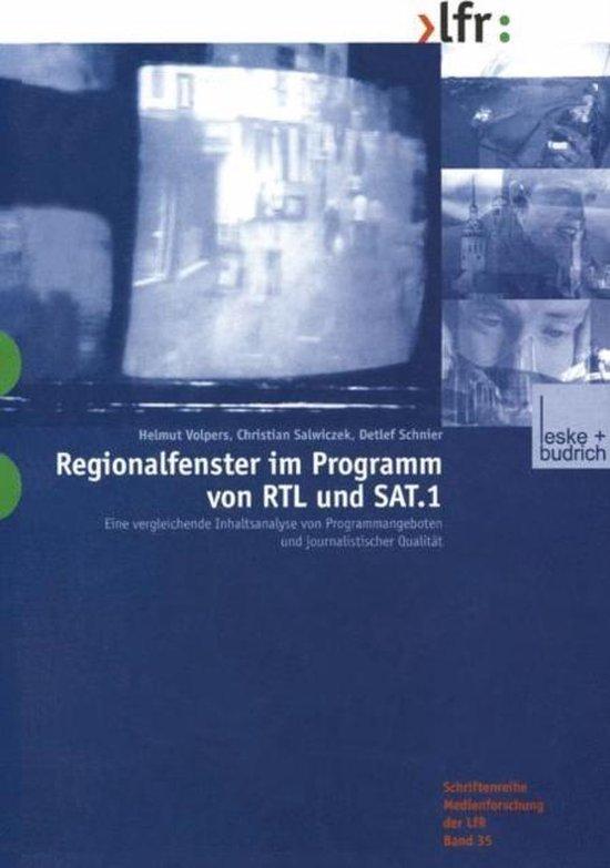 Regionalfenster Im Programm Von RTL Und SAT.1