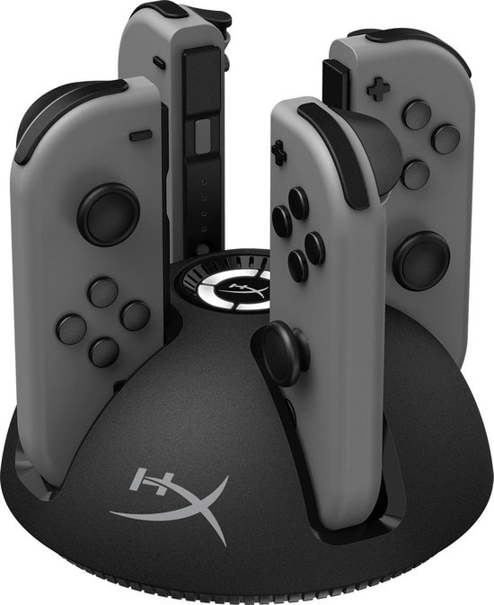 HyperX ChargePlay QUAD Controller Oplaadstation - Nintendo Switch - Zwart