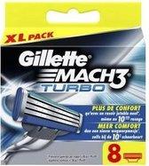 Gillette Mach3 Turbo Scheermesjes - 8 stuks