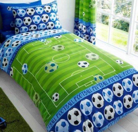 Voetbalveld Goal dekbedovertrek blauw - Voetbal dekbed