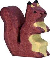 Holztiger staande bruine eekhoorn