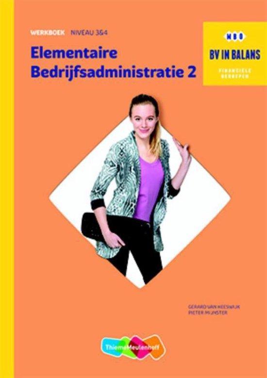 Werkboek elementaire bedrijfsadministratie deel 2 - none | Fthsonline.com