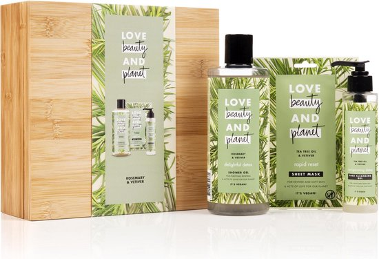 Love Beauty And Planet Green BambooBox Rosemary & Vetiver - Geschenkset