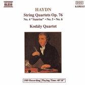 Haydn: String Quartets, Op 76 no 4-6 / Kodaly Quartet