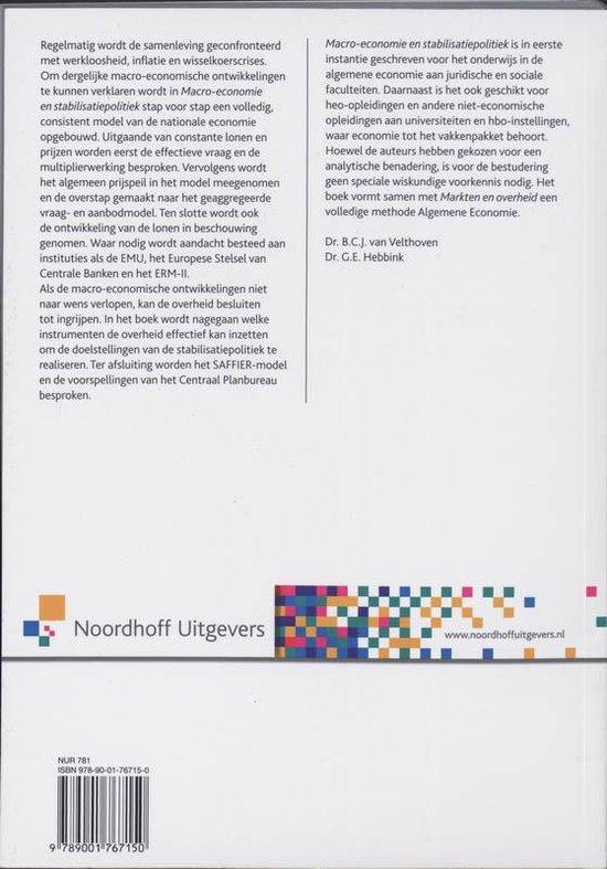 Macro-economie en stabilisatiepolitiek - B.C.J. van Velthoven  