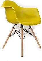 Designstoel DSA kuipstoel  | Mosterd geel | Meubelaxi