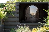 De oude stad van Jeruzalem in Azië vanuit de straten Tuinposter 120x80 cm - Tuindoek / Buitencanvas / Schilderijen voor buiten (tuin decoratie)
