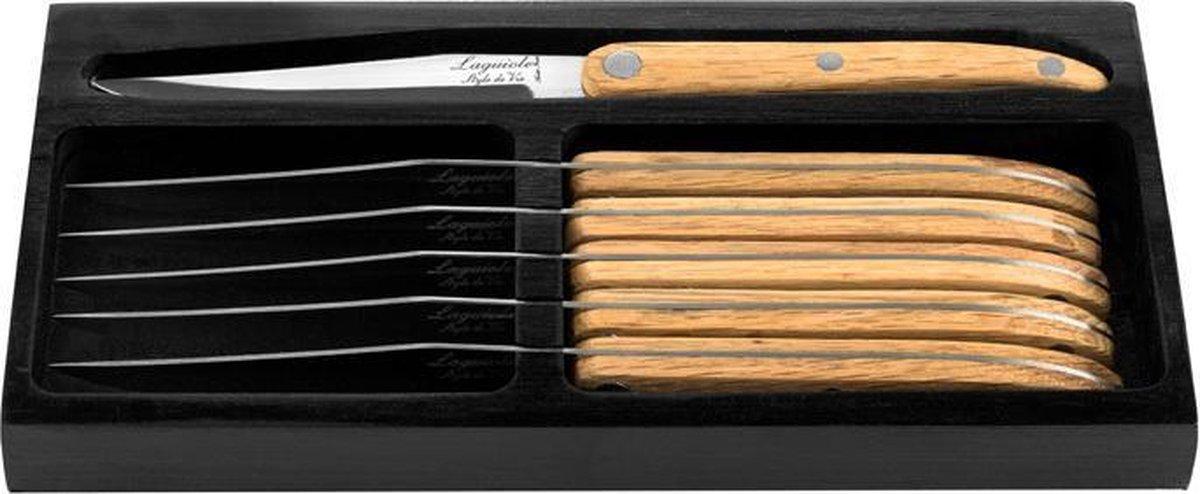 Laguiole Style de Vie Steakmessen Innovation Line - 6-delig - Glad - Laguiole Style de Vie