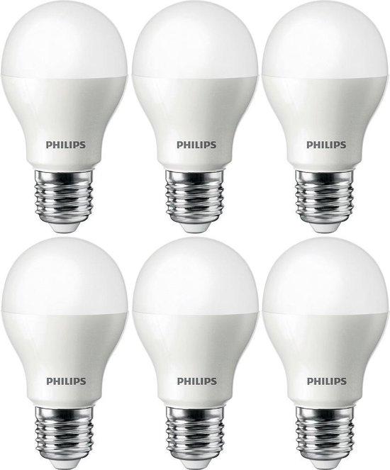 6 stuks Philips LED lamp 4-32W E27 350lm 6500K Daglicht