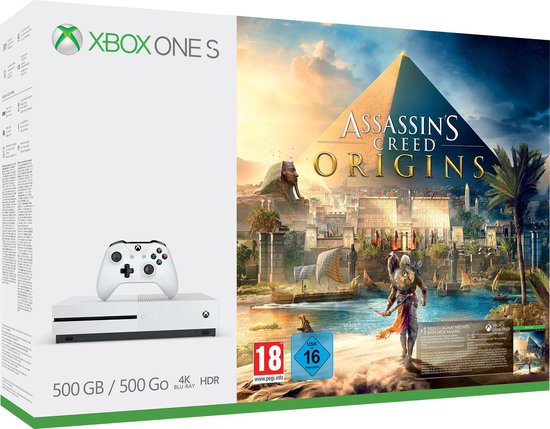 Xbox One S console 500 GB + Assassin's Creed Origins - Microsoft