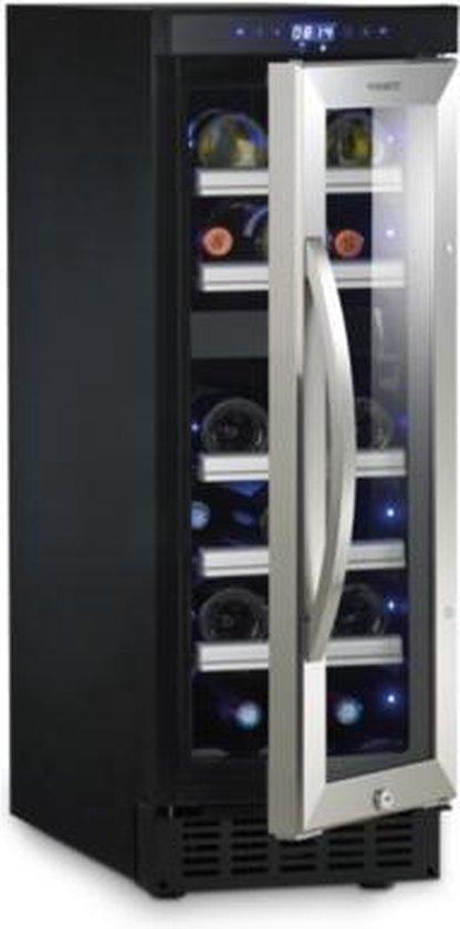 Koelkast: Dometic MaCave D15 Vrijstaand gebruik of onder het werkblad in te bouwen, Compressor wijnkoelkast, Zwart met inox deurframe, 17 flessen, van het merk Dometic