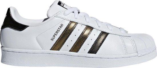 adidas Originals Superstar W Dames Sneakers Sportschoenen Schoenen Leer  Wit/Goud - Maat EU 42